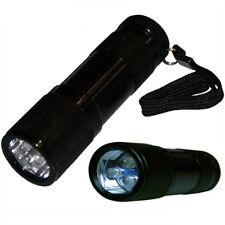 Kleine LED Taschenlampe Leuchte Alugehäuse schwarz 3 LED Druckknopf-Schalter