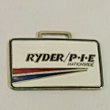 "Vintage Ryder Truck Lines Watch Fob Metal 2"" Enamel RTL Logo P.I.E Nationwide"