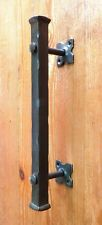 "Barn Push Pull Door Handle 12"" Wrought Iron Front Entrance Farmhouse Entry Gate"