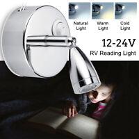 2X LED Caravan Spot Reading Light Travel Car Van RV Boat Interior Lights 12-24V