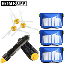 Brushes Aero Vac Filters 3 arm sided brushes kit for iRobot Roomba 630 650 670