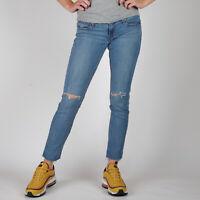 Levi's 524 Skinny cropped Medium Acoustic blau Damen Jeans DE 36 / US W28 L32