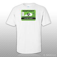 Kentucky Zombie Hunting Permit T-Shirt Tee Shirt Free Sticker outbreak response