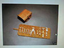 1/12 Vintage Leather Tool Kit w/ Metal Tools Highly Detailed Ferrari Kyosho