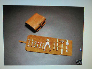 1/12 Vintage Leather Tool Kit Mercedes Ferrari Kyosho Entex Italeri Monogram