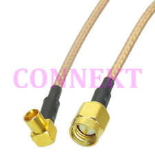 SMA male to MCX female right angle RG316 cable jumper pigtail 15cm