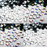 SQUARE Hotfix Rhinestones Crystal Glass Gems Iron on Transfer Glue Flatback