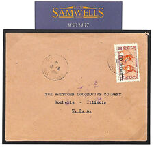 MS3437 1945 French Colonies MARTINIQUE 10f Surcharge Cover USA RAILWAY COMPANY