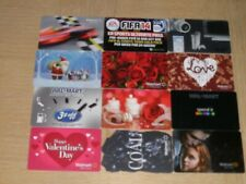 Walmart    12 different new and used collectible gift cards