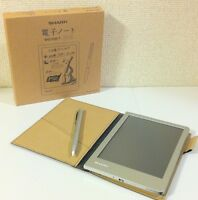 NEW Sharp Electronic Memo Pad Handwriting Notebook WG-S30-T Brown from JAPAN