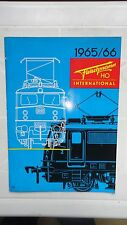 JOLI CATALOGUE FLEISCHMANN HO INTERNATIONAL 1965 1966 SNCF SJ DSG DSB BURLINGTON