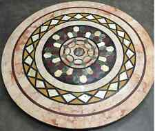 """42"""" dining black marble table top center coffee home decor inlay malachite  1"""