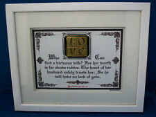 "Bible Scripture Plaques/Signs ""WHO CAN FIND A VIRTUOUS WIFE"" Christian Gifts $50"