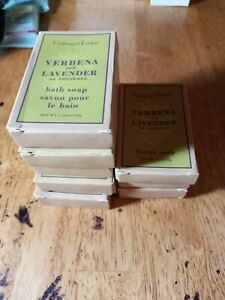 Lot of 8New CRABTREE & EVELYN, VERBENA and LAVENDER Bath and Facial Soap Bars