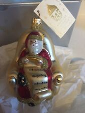Patricia Breen Designs Santa With List Christmas Ornament