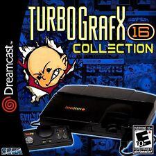 Turbografx 16 Emulator Custom Sega Dreamcast Game. Over 200 Games!