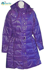New NIKE Sportswear NSW Womens 550 Down Long Puffa Parka Jacket Coat Purple S