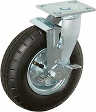 Casterhq 8 X 25 Swivel With Brake Pneumatic Caster 4 Ply 250 Lbs Capacity