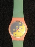 1987 Vintage Ladies swatch watch Blue Cassata LP103 Used New Battery(377)
