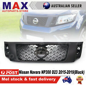 Front Bumper Bar Grille Matte Black for Nissan Navara NP300 D23 UTE 2015-2019