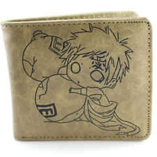 Naruto Sabaku no Gaara Gourd Bifold Leather Wallet Card Holder Purse Bag Cosplay
