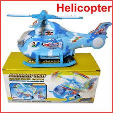 New Hot Flashing Lights Music Helicopter Battery Operated B/O Boy Box Set Toy uk