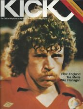 1978 NASL KICK Magazine Soccer Program Mike Flanagan New England Tea Men  #FWIL