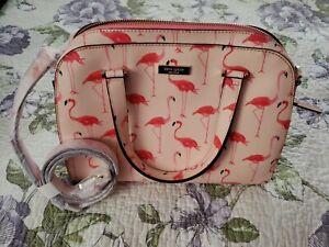 NWT Kate Spade New York Flamingo Pink Handbag Felix Newbury Lane Satchel Bag