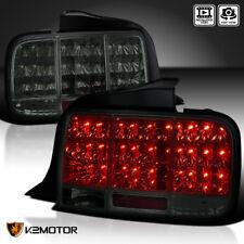 2005-2009 Mustang Euro LED Sequential Turn Signal Tail Light Brake Lamp Smoke