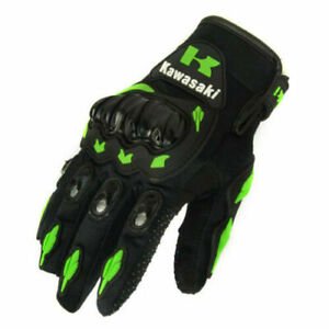 Kawasaki Motocross Motorcycle Motor Riding Cycling Racing Gloves