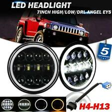 "2x 7""inch 200W LED Headlight DOT DRL Halo Ring Hi-Lo Beam for Hummer H1 H2 02-09"