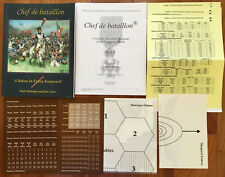 CHEF de BATAILLON -  miniatures rules by Scott Bowden and Jim Getz unpunched