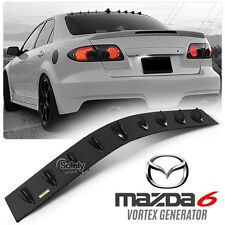 New Mazda 6 2003 ON Glossy Black Car Roof Air Vortex Generator Fin Spoiler