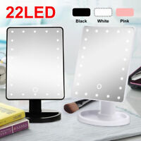 22 LED Lighted Touch Screen Illuminated Vanity Makeup Mirror Cosmetic Tabletop