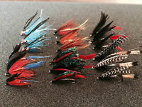 18 Mixed Sea Trout/Salmon Flies Fishing Flies 6 Varieties Sizes 6, 8, 10