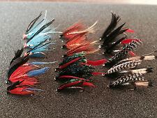 18 Mixed Sea Trout/Salmon Flies Fishing Flies 6 Varieties Sizes 6, 8, 10