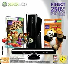 Xbox 360S 250GB Kinect Sensor Controller Headset Spiele Adventures Kung Fu Panda