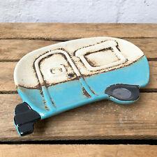 Ceramic Camper Van Caravan Decorative Keys Coins Change Tray Dish Plate Gift Art