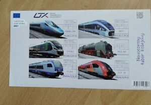 Modern rolling stock - 2021, Folder, non-perforated sheet.
