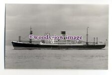 c1229 - Blue Funnel Line Cargo Ship - Ajax - photograph by Clarkson