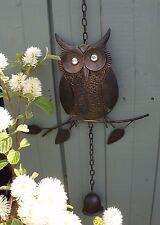 Owl Wind Chime-Rústico-Jardín/Decoración Del Hogar-Color de bronce