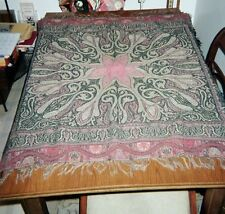 """""""PAISLEY STAR"""" -  Amsterdam TABLECLOTH; 36"""" x 39"""", 1920's. Holland. Cotton/Wool."""