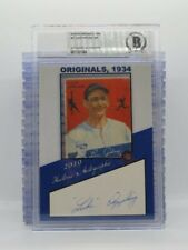 New Listing2019 Historic Autographs Luke Appling 1934 Goudey Card / Cut Signature Auto C24