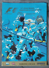 F1 FORMULA 1 PROGRAM APRIL 1999 WARSTEINER DI SAN MARINO RACING