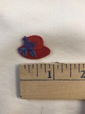 Bundle of 45 Embroidered Iron On Red Hat Lady Hat Appliques'
