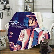 Michael Jackson 3D Print Sherpa Home Blanket Sofa Couch Quilt Cover Throw Fleece