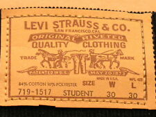 Levi's 7 PAIRS EARLY 80'S VINTAGE STUDENT SIZE CORDUROY PANTS - STYLE 719-15XX