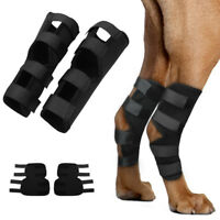 Pair of Dog Rear Leg Brace Hock Protector Therapeutic Joint Brace Wrap 4 Straps