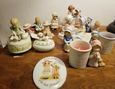Lot Of Vintage Holly Hobbie 13 Porcelain Figurines & 1 Plaque-Most with Tags