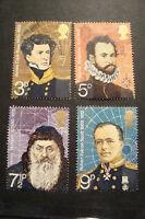 GB 1972 Commemorative Stamps~Explorers~Fine Used Set~UK Seller